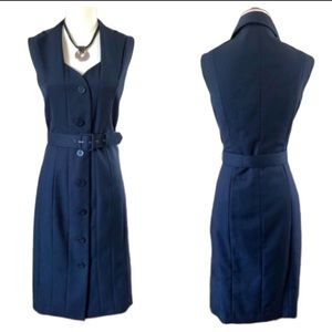 Calvin Klein Belted Career Dress in Navy - NEW!!